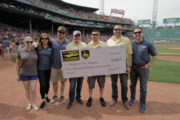 U.S. Pavement hosts over 300 Veterans and their familes at Fenway Park on June 4th