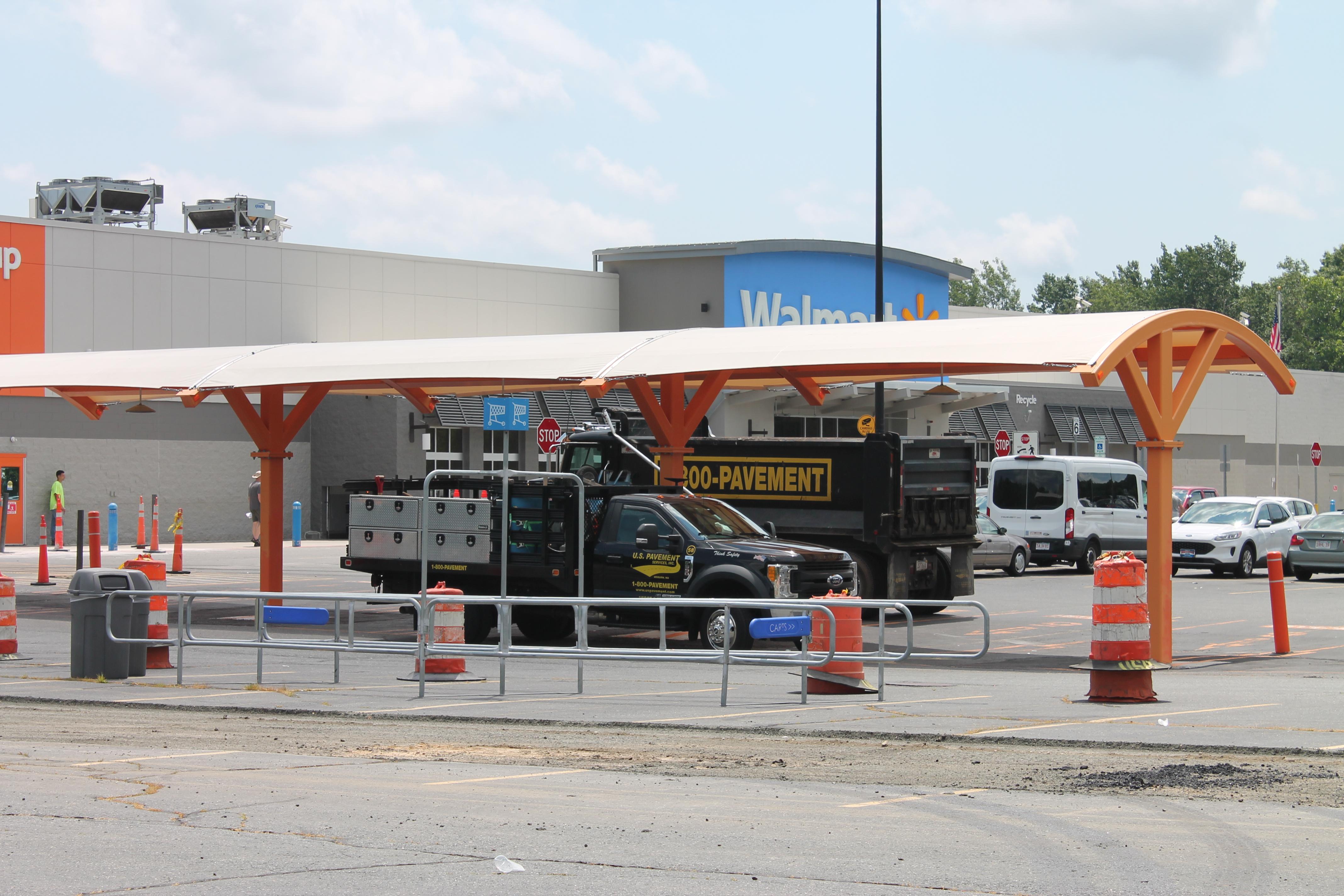walmart big box retailer parking lot maintenance